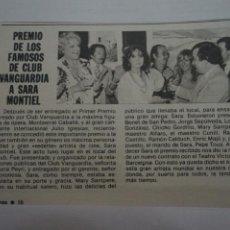 Coleccionismo de Revistas: RECORTE CLIPPING DE SARA MONTIEL REVISTA LECTURAS Nº 1474 PAG. 10 L16. Lote 235717855