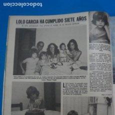 Coleccionismo de Revistas: RECORTE CLIPPING DE LOLO GARCIA REVISTA LECTURAS Nº 1474 PAG. 24 L16. Lote 235718885