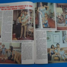 Coleccionismo de Revistas: RECORTE CLIPPING DE CONCHA VELASCO PACO MARSO REVISTA LECTURAS Nº 1474 PAG. 66-671 L16. Lote 235725105