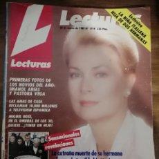 Coleccionismo de Revistas: REVISTA LECTURAS 1719 AÑO 1985. GRACE DE MONACO NO FUE UN ACCIDENTE.. Lote 235871465