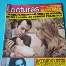 Collectionnisme de Magazines: LECTURAS N.1083 ANO 1973 ,ALFONSO DE BORBON,POSTER GLENN FORD. Lote 238177105