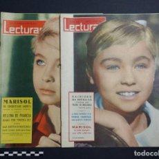 Coleccionismo de Revistas: LECTURAS Nº 503 Y 531 . MARISOL,REINA FABIOLA,FRANK SINATRA.. Lote 240483165