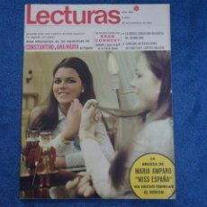 Colecionismo de Revistas: REVISTA LECTURAS MISS ESPAÑA 1968 MARIA AMPARO RETIRADA MISS MUNDO SEAN CONNERY 007 Nº 866 L27. Lote 242080860