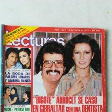 Collectionnisme de Magazines: LECTURAS, UN DOS TRES, ROCÍO JURADO, LA CHANA, BIGOTE ARROCET. SUSANA ESTRADA. 1977. Lote 242977875