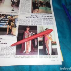 Collectionnisme de Magazines: RECORTE : MISS NAVARRA Y MISS ARAGON. LECTURAS, NVMBRE 1983(#). Lote 243014045