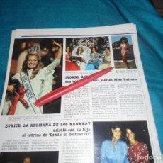 Colecionismo de Revistas: RECORTE : IVONNE RYDING, ELEGIDA MISS UNIVERSO. LECTURAS, JULIO 1984(#). Lote 243356855
