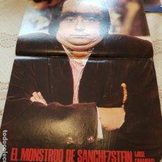 Coleccionismo de Revistas: PÓSTER REVISTA LECTURAS - MONSTRUO DE SANCHEZSTEIN - CANTIDUBI DUBI DU. Lote 243531440