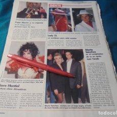 Collectionnisme de Magazines: RECORTE : MARTA SANCHEZ. SARA MONTIEL. LECTURAS, JULIO 1990 (#). Lote 243772860