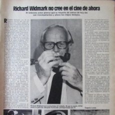 Coleccionismo de Revistas: RECORTE REVISTA LECTURAS N.º 1594 1982 RICHARD WIDMARK, JUAN SANTAMARÍA. Lote 243850835