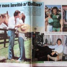 Coleccionismo de Revistas: RECORTE REVISTA LECTURAS N.º 1594 1982 PATRICK DUFFY, DALLAS 5 PGS. Lote 243852340