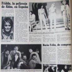 Coleccionismo de Revistas: RECORTE REVISTA LECTURAS N.º 1594 1982 FRIDDA, GRUPO ABBA, ANNI-FRID LYNGSTAD. Lote 243853645