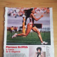 Coleccionismo de Revistas: RECORTE FLORENCE GRIFFITH REVISTA LECTURAS 19 OCTUBRE 1988 Nº1906. Lote 243870575