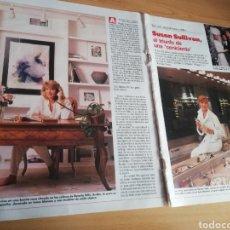 Coleccionismo de Revistas: RECORTE SUSAN SULLIVAN REVISTA LECTURAS 19 OCTUBRE 1988 Nº1906. Lote 243871590