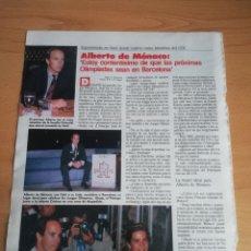Coleccionismo de Revistas: RECORTE SEÚL EN LOS JUEGOS OLÍMPICOS Y ALBERTO DE MÓNACO REVISTA LECTURAS 19 OCTUBRE 1988 Nº1906. Lote 243872820