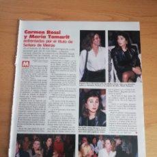 Coleccionismo de Revistas: RECORTE CARMEN ROSSI Y MARÍA TAMARIT REVISTA LECTURAS 19 OCTUBRE 1988 Nº1906. Lote 243876210