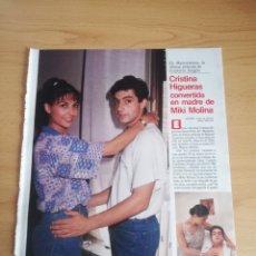Coleccionismo de Revistas: RECORTE CRISTINA HIGUERAS REVISTA LECTURAS 19 OCTUBRE 1988 Nº1906. Lote 243877635
