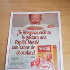 Coleccionismo de Revistas: RECORTE ANUNCIO NESTLÉ Y LONI ANDERSON REVISTA LECTURAS 19 OCTUBRE 1988 Nº1906. Lote 243878600