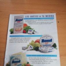 """Coleccionismo de Revistas: RECORTE ANUNCIO QUESOS BONSI Y LA """"NOVIETA"""" DE JULIO IGLESIAS JR REVISTA LECTURAS 19 OCTUBRE 1988. Lote 243879730"""