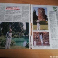 Coleccionismo de Revistas: RECORTE DE MANUEL PERTEGAZ REVISTA LECTURAS 19 OCTUBRE 1988 Nº1906. Lote 243881495
