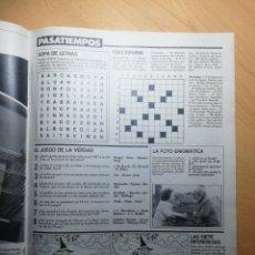 Coleccionismo de Revistas: RECORTE SECCIÓN PASATIEMPOS REVISTA LECTURAS 19 OCTUBRE 1988 Nº1906. Lote 243889545