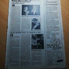 Coleccionismo de Revistas: RECORTE SECCIÓN VIVIR PARA VER: BARBARA BEL GEDDES, JULIO IGLESIAS, BRUS WILLIS, SABRINA, .... Lote 243892940