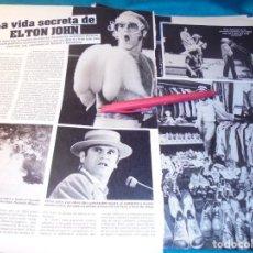 Coleccionismo de Revistas: RECORTE : LA VIDA SECRETA DE ELTON JOHN.. LECTURAS, JUNIO 1984(#). Lote 244485050