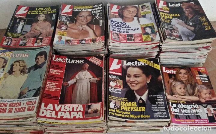 LOTE DE 51 REVISTAS LECTURAS. (Coleccionismo - Revistas y Periódicos Modernos (a partir de 1.940) - Revista Lecturas)