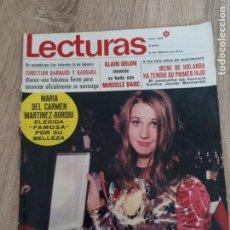 Coleccionismo de Revistas: LECTURAS 929 AÑO 1970 M.C.MARTINEZ BORDIU.ALAIN DELON. ETC... Lote 244662255