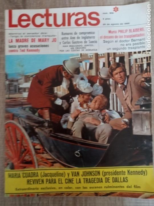 LECTURAS 906 AÑO 1969 KENNEDY ALFREDO LANDA .JACKIE EN ATENAS ETC.. (Coleccionismo - Revistas y Periódicos Modernos (a partir de 1.940) - Revista Lecturas)