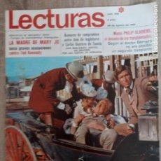 Coleccionismo de Revistas: LECTURAS 906 AÑO 1969 KENNEDY ALFREDO LANDA .JACKIE EN ATENAS ETC... Lote 244664805