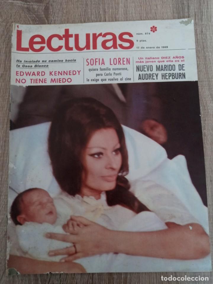 LECTURAS 874 AÑO 1969 SOFIA LOREN.LUCIA BOSE .KENNEDY.LIZ TAYLOR ETC.. (Coleccionismo - Revistas y Periódicos Modernos (a partir de 1.940) - Revista Lecturas)