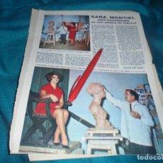 Colecionismo de Revistas: RECORTE : SARA MONTIEL EN ESTATUA DE MARMOL. LECTURAS, DCMBRE 1965(#). Lote 244673305