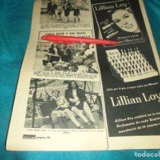 Colecionismo de Revistas: RECORTE : LUCIA BOSE Y SUS HIJOS REGRESAN DE ITALIA. MIGUEL BOSE. LECTURAS, MAYO 1964(#). Lote 244677260