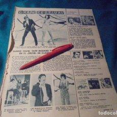 Colecionismo de Revistas: RECORTE : CLAUDE FRANÇOIS. SANDIE SHAW. CLIFF RICHARD. LECTURAS, FBRO 1968(#). Lote 244712460