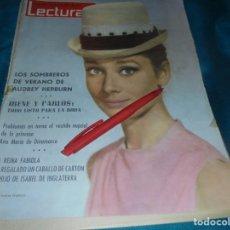 Coleccionismo de Revistas: RECORTE : PORTADA REVISTA : AUDREY HEPBURN. LECTURAS, MAYO 1964 (#). Lote 244965140