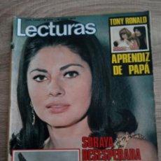 Coleccionismo de Revistas: LECTURAS 1.048.SORAYA.TONY RONALD.PALOMO LINARES.MARQUESES DE VILLAVERDE.POSTER.AUTOGRAFO ETC. Lote 245038915