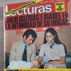 Coleccionismo de Revistas: LECTURAS 1.017 JULIO IGLESIAS.LAURA VALENZUELA FABIOLA BALDUINO .POSTER DE PERETC. Lote 245049075