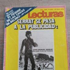 Coleccionismo de Revistas: LECTURAS 1.038 SERRAT.RAPHAEL.MANOLO ESCOBAR.PAOLA DOMINGUIN .POSTER DE BASILIO. Lote 245052440