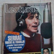 Coleccionismo de Revistas: LECTURAS 1.021SERRAT.J.M.IÑIGO ZOCO REAL MADRID .POSTER DE DAVID CASSIDY. ETC... Lote 245056420