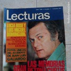 Coleccionismo de Revistas: LECTURAS 1.015 .LUCIA BOSE.CLAUDIA CARDINALE.BODA RITA PAVONE.1971 .POSTER DE TONY CURTIS . ETC... Lote 245080485