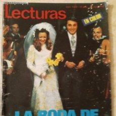 Coleccionismo de Revistas: LECTURAS 1043 BODA JAIME MOREY.MONACO.CESAR P. DE TUDELA.HOLLYWOOD.POSTER DE VICTOR MANUEL ETC. Lote 245106255