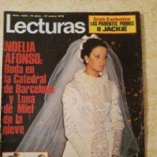 Coleccionismo de Revistas: LECTURAS 1031 BODA NOELIA ALONSO MISS EUROPA .DUO DINAMICO.LUCIA BOSE Y DOMINGUIN.POSTERETC. Lote 245154650