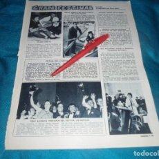 Colecionismo de Revistas: RECORTE : SHEILA, MADRINA NUEVO PUERTO. JOHNNY HALLYDAY. . LECTURAS, AGOSTO 1968(#). Lote 245357325