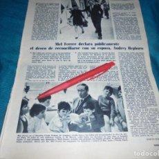 Coleccionismo de Revistas: RECORTE : MEL FERRER Y AUDREY HEPBURN. LECTURAS, MARZO 1968 (#). Lote 245361425
