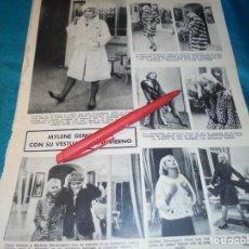 Coleccionismo de Revistas: RECORTE : MYLENE DEMONGEOT. LECTURAS, ENERO 1965(#). Lote 246136355