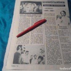 Coleccionismo de Revistas: RECORTE : LOS JAVALOYAS, EXITO EN MADRID. GIORGIO. LECTURAS, DCMBRE 1969(#). Lote 246285850