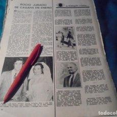 Coleccionismo de Revistas: RECORTE : ROCIO JURADO, SE CASA EN ENERO. LECTURAS, SPTMBRE 1971(#). Lote 246293910