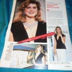 Coleccionismo de Revistas: RECORTE : BROOKE SHIELDS. LECTURAS, DCMBRE 1989(#). Lote 246294485