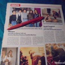 Coleccionismo de Revistas: RECORTE : MECANO, EN NUEVA YORK. LECTURAS, DCMBRE 1989(#). Lote 246295460