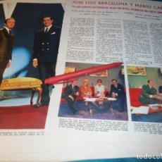Coleccionismo de Revistas: RECORTE : JOSE LUIS BARCELONA Y MARIO CABRE, PRESENTAN , REINA POR UN DIA. LECTURAS, DCMBRE 1965(#). Lote 246319985